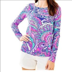 Lilly Pulitzer Tristan Top Mermaids Call Small NWT